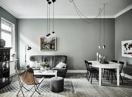 gray with a hint of green minimalist gray living room