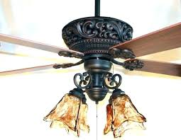 metal blade ceiling fan with light metal
