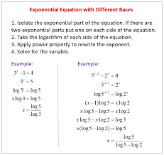 solving exponential and logarithmic equations worksheet solving exponential equations with diffe bases examples solutions s worksheets