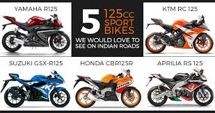 5 125cc sport bikes we would love to see on indian roads