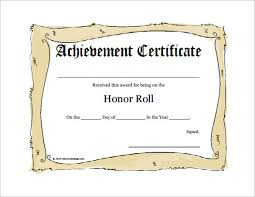 A Honor Roll Certificates Printable Rome Fontanacountryinn Com