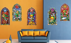 zelda stain glass wall mural decals s simple zelda stained glass wall decal