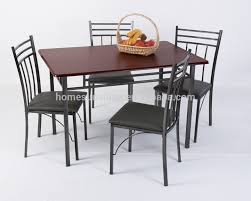 ... Dining Tables, Astounding Brown Rectangle Modern Marble Steel Dining  Table Varnished Design: Captivating steel ...