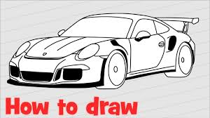 #porsche 996 #sketch by #cardesign star pinky lai. How To Draw A Car Porsche 911 Gt3 Rs Youtube