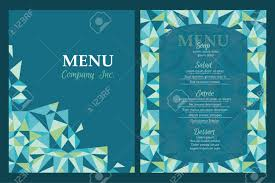 Abstract Menu Design Vector Unique Menu Template Design With Geometric Abstract Pattern