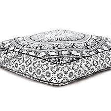 Amazon Elephant Mandala Floor Pillow Indian Square Ottoman
