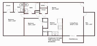 3 Bedroom House Plans 1000 Sq Ft Lovely 3 Bedroom 2 Bath House Plans Under  1000