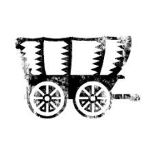black and white covered wagon. covered wagon icon #036919 black and white n