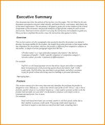 Executive Report Template Summary Example For Best – Stiropor Idea