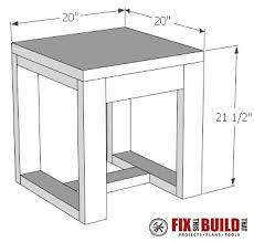 diy outdoor furniture plans. DIY Outdoor Side Table Plans Diy Outdoor Furniture Plans