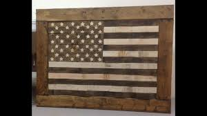 diy rustic pallet wood american flag usa
