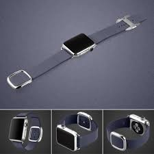 Free shipping stylish brand modern Casual 10 Off Free Shipping Buy The Best Pdair Apple Watch 38mm Modern Buckle Pdair Apple Watch 38mm Modern Buckle Leather Smart Band Strap deep Blue