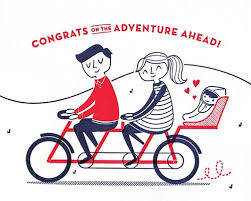 Baby Bicycle Congrats Baby Letterpress