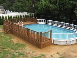 how to build a deck for above ground swimming pool wooden pool deck kits