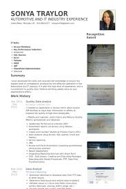 Quality Analyst Cv Quality Data Analyst Resume