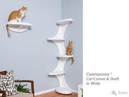 Corner Cat Shelves Modern Cat Tower And Shelf From The Refined Feline 1
