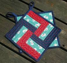 quilted potholder patterns | Quilted by stitching near the edges ... & Stitchnquilt: Take a Block - and Make a Potholder Adamdwight.com
