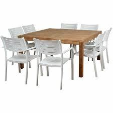 piece teak square patio dining
