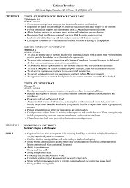Contract Consultant Resume Samples Velvet Jobs