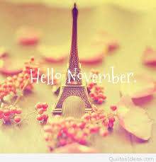 eiffel tower hello november awesome background