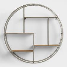 plush design metal wall shelves interior designing home ideas round wood and mateo storage world market for kitchen garage ikea decorative