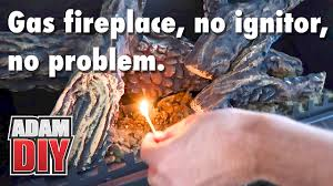 how to light a gas fireplace pilot light with no ignitor
