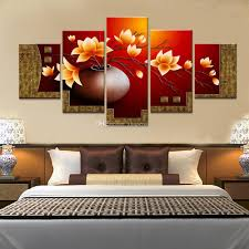 Magnolia Living Room 2017 Magnolia Flower Vase Canvas Print Oil Painting Wall Pictures