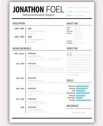 Unique Resume Templates Free Fascinating PSD Resume Template 40 Free Samples Examples Format Download