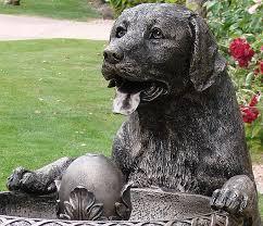 chocolate lab garden statue labrador retriever gifts flags garden outdoor decor