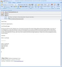 Email Cover Letter For Resume Format Zonazoom Com