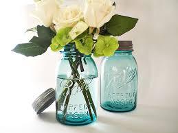 Blue Mason Jars Wedding Decor Blue Mason Jars Turquoise Wedding Decor Antique Ball Canning Jar 6