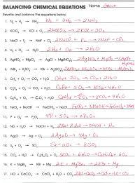 translating word equations chemistry worksheet tessshlo