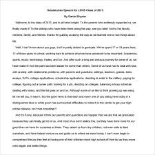 sample salutatorian speech documents in pdf salutatorian graduation speech examples