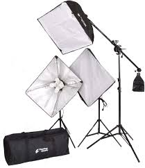 Cowboy Studio Strobe Lighting Kit Cowboystudio 2000 Watt Digital Video Lighting Kit With Boom For Video And Digital Photography Vl 9004s B6