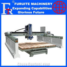 inregrated bridge stone marble granite countertop cutting machine cut