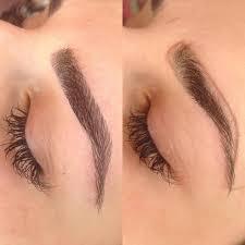 Oční Tetování S Technikou Vlasů Popis Toho Kolik Je Drženo Foto