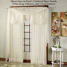 swag sheer curtains with valances sheer fishtail swag curtains