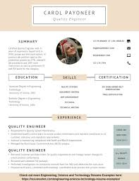 Resume Format For Quality Engineer Quality Engineer Resume Example