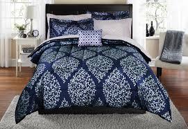 mainstays leaf damask bed in a bag coordinating bedding set