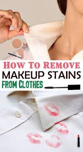 remove makeup sns from clothes