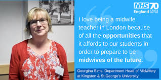 """NHS London on Twitter: """"To celebrate International Day of the Midwife, Georgina  Sims, Department Head at @KUStGeorges, shares why #London is an amazing  place to study #midwifery. Learn what it takes to"""