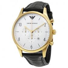 emporio armani classic chronograph white dial black leather men s emporio armani classic chronograph white dial black leather men s watch ar1892