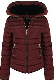 womens fall padded autumn quilted jacket navy black