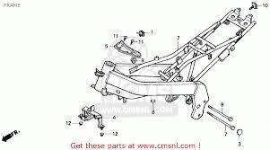 honda zb50 1988 j usa frame schematic partsfiche frame schematic