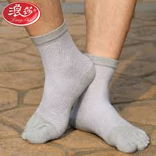 Buy Langsha mens socks langsha <b>toe socks</b> male cotton <b>spring</b> and ...