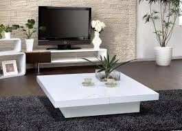 image of modern white coffee table