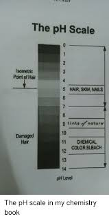Chart The Ph Scale Lsometic Point Of Hair 5 Hair Skin Nails