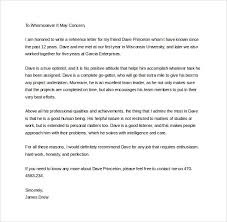 Letters Of Recommendation Personal Sample Personal Letter Of Recommendation 16 Download Free