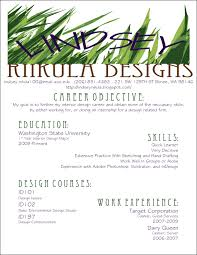 Entry Level Interior Design Resume Free Resume Example And