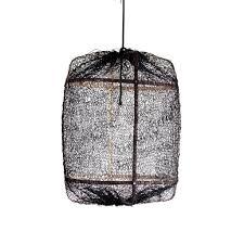 Ay Illuminate Hanglamp Z5 Naturel Zwart Bamboe ø42x57cm Wonenmetlefnl